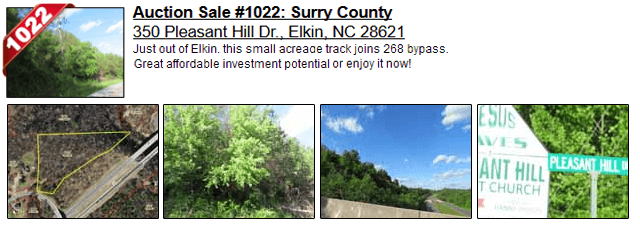 Auction Sale #1022: Surry County - 350 Pleasant Hill Dr., Elkin, NC 28621