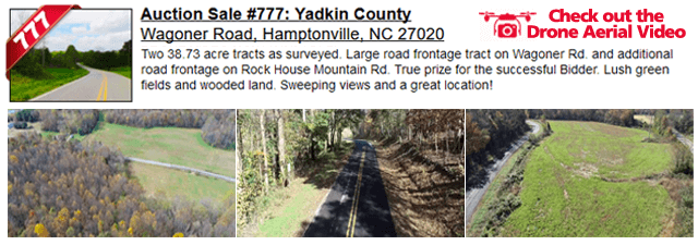 Auction Sale #777: Yadkin County - Wagoner Road, Hamptonville, NC 27020
