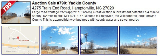 Auction Sale #790: Forsyth County - 4275 Trails End Road, Hamptonville, NC 27020