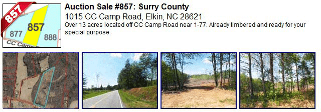 Auction Sale #857: Surry County - 1015 CC Camp Road, Elkin, NC 28621