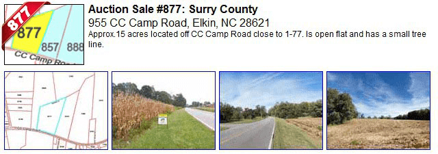Auction Sale #877: Surry County - 955 CC Camp Road, Elkin, NC 28621