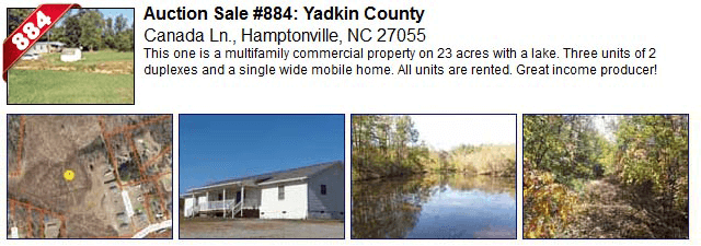 Auction Sale #884: Yadkin County - Canada Ln., Hamptonville, NC 27055
