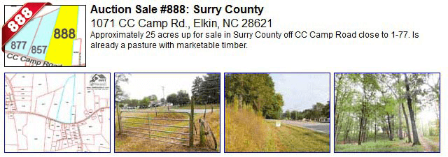 Auction Sale #888: Surry County - 1071 CC Camp Road, Elkin, NC 28621