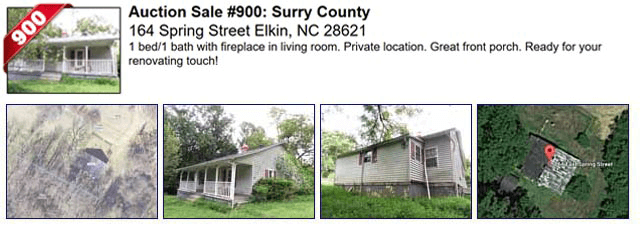 Auction Sale #900: Surry County - 164 Spring Street Elkin, NC 28621