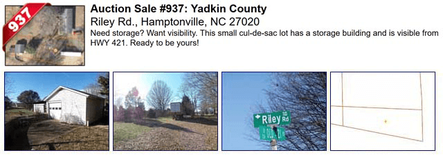 Auction Sale #937: Yadkin County - Riley Rd., Hamptonville, NC 27020