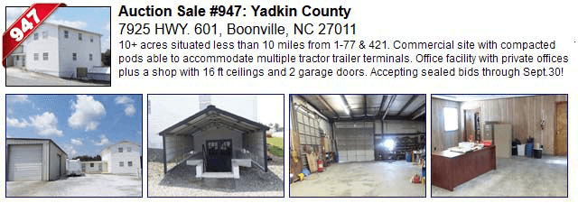 Auction Sale #947: Yadkin County - 7925 HWY. 601, Boonville, NC 27011