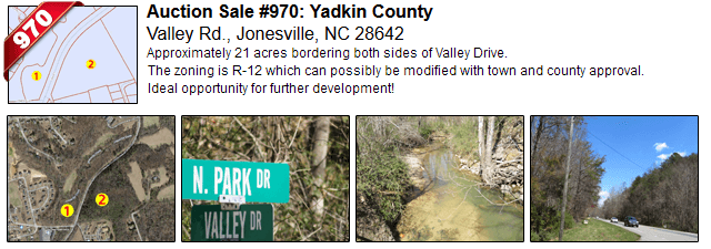 Auction Sale #970: Yadkin County - Valley Rd., Jonesville, NC 28642